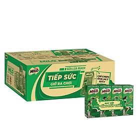 Thùng 48 hộp sữa lúa mạch Nestlé Milo (48x180ml) - [Phiên bản ống hút giấy]
