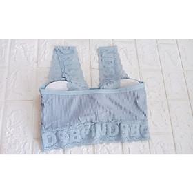 Áo Bra sợi bông viền ren form freesize Br1850, áo Bra cotton có mút lót from 40-60kg, K&L Store