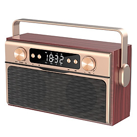 X5 Portable Wireless Bluetooth 5.0 Speaker 20W Loudspeaker Alarm Clock FM Radio MP3 Player Support TF Card U Disk Line