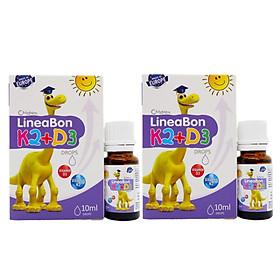 Combo 2 hộp Vitamin LineaBon K2 + D3 hỗ trợ chống còi xương, tăng chiều cao cho trẻ sơ sinh và trẻ nhỏ