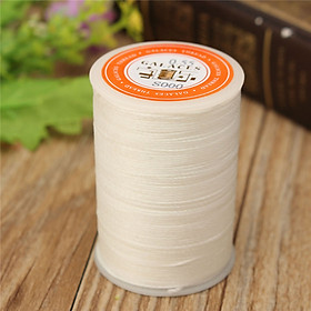 115m Dacron Wax Line Round DIY Leather Craft 0.55mm For Shoe Sewing White