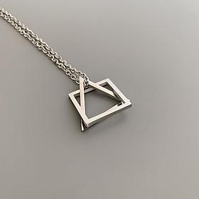 Dây chuyền nam nữ tam giác vuông hình học vòng cổ unisex phong cách Hàn Quốc