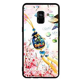 Ốp lưng viền TPU cho điện thoại Samsung Galaxy A8 2018 - Diên Hi Công Lược 03