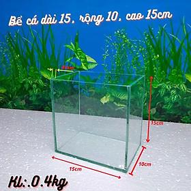 Bể cá mini , Bể cá mini để bàn dấu keo