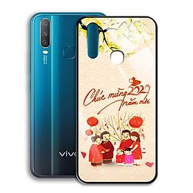 Ốp Lưng Kính Cường Lực cho điện thoại Vivo Y17 - 0363 7982 HPNY 24 - Tết đoàn viên - Hàng Chính Hãng
