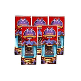 Combo 5 Lọ Nhụy hoa nghệ tây Tashrifat Saffron Premium loại Negin sợi to (1 Grams)
