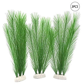 3PCS Aquarium Artificial Plants Artificial Plastic Plants Ornaments Natural Artificial Foliage Plants DIY Realistic