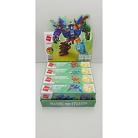 Đồ chơi lắp ghép xếp hình, lego Qman 1414 - Siêu Robot khủng long