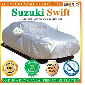 Bạt Phủ dành cho Ô Tô Suzuki Swift Cao Cấp 3 Lớp Chống Nắng Nóng Chống Nước Chống xước