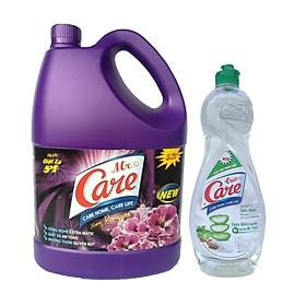 Nước giặt xả 5in1 Mr.Care hương Romantic 3.8kg + Tặng 1 chai nước rửa chén TrueCare Thiên nhiên 750g