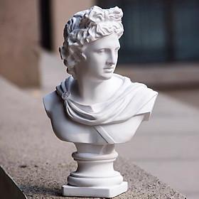 Tượng Hy Lạp nam thần Ánh sáng Apollo trắng 31cm