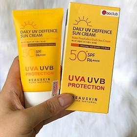 Kem chống nắng và dưỡng da hằng ngày cao cấp Beauskin Daily UV Deffence Sun Cream 50+ SPF/PA++++ - 50ml  Hàn quốc  (50ml) kèm khấu trang dài