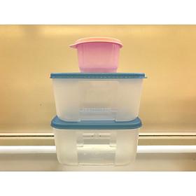 Bộ 2 hộp trữ đông thực phẩm Tupperware (tặng 1 snackcup)