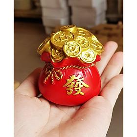 Túi vàng đỏ chữ PHÁT - Phát Tài Phát Lộc 6cm