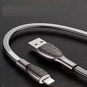 Cáp sạc Hoco Lightning hỗ trợ sạc nhanh giúp rút ngắn thời gian sạc , truyền dữ liệu giữa các thiết bị dài 1.2m - Hàng chính hãng