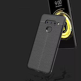 Ốp lưng LG V50 giả da chống sốc Auto Focus - Hàng nhập khẩu