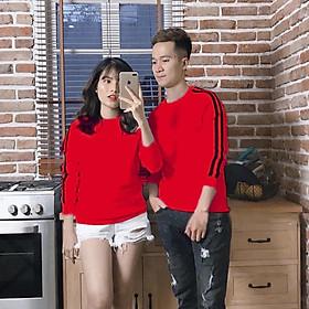 Đồ đôi thu đông CoupleTina 100% cotton cao cấp - màu đỏ thể thao