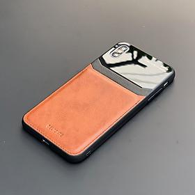 Ốp lưng da kính cao cấp dành cho iPhone X / iPhone XS - Màu vàng nâu - Hàng nhập khẩu - DELICATE
