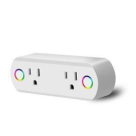 Dual Outlet WiFi Smart Plug Socket Remote Power Switch for Alexa /Google Home US Plug