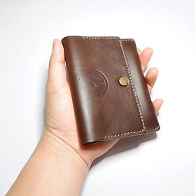 Ví Da Cầm Tay Mini Đựng Namecard (Danh Thiếp) / Ví Đựng Thẻ ATM, Thẻ Tín Dụng - Thủ Công (Handmade) 100%