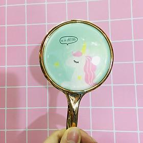 Gương cầm tay mini tiểu thư sang chảnh