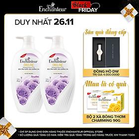 Combo 2 Sữa tắm hương nước hoa Enchanteur Sensation 650gr/ Chai