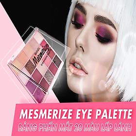 Bảng Phấn Mắt 20 Màu Ánh Nhũ Dạng Lì Australis Mesmerize Eyeshadow Palette 20g
