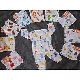 Combo 5 bộ coton giấy quần dài áo dài tay cho bé (mẫu ngẫu nhiên)