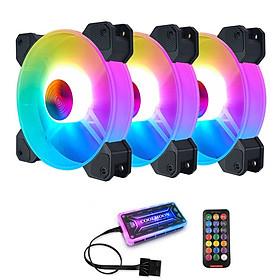 Bộ quạt tản nhiệt máy tính Coolmoon X RGB - Hàng nhập khẩu