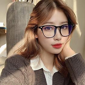 Kính cận thời trang gọng nhựa cao cấp phong cách Hàn Quốc bảo vệ mắt chống ánh sáng xanh