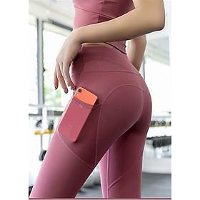 Quần tập gym nâng mông, quần tập yoga nữ cạp cao gen bụng, có túi đựng điện thoại
