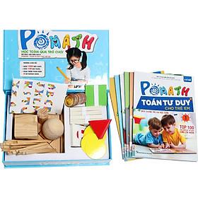 Combo Bộ sách POMath Toán tư duy cho trẻ em 4 đến 6 tuổi, và bộ học liệu đi kèm (Tặng kèm Kho Audio Books)