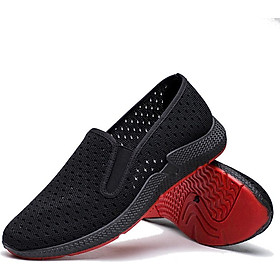 Giày Lười Nam Vải Cao Cấp Lỗ Thoáng Khí Đế Cao Su NCL01