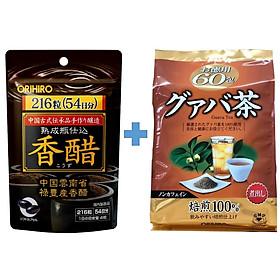 Combo Giấm đen giảm cân Orihiro và Trà ổi giảm cân Orihiro Nhật Bản