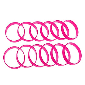 12 Pieces Blank Wristbands Bracelet Silicone Rubber Wrist Bands