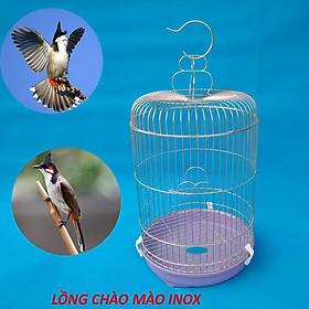 Lồng nuôi chim chào mào inox size 30 x 70 cm