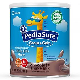 Sữa bột Pediasure Grow and Gain Chocolate Shake Mix 400g nhập Mỹ - Mẫu mới-0