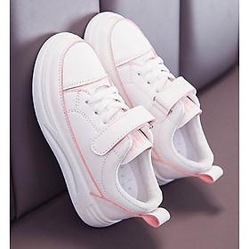 Giày thể thao trắng viền hồng phong cách hàn quốc bé gái từ 3  - 15 tuổi - TT12T