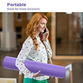 0.39 Inch Thick Exercise Mat Yoga Workout Mat for Woman Exercise Mat Home-1