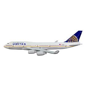 Mô Hình Máy Bay Trưng Bày Boeing 747 United Airlines Everfly