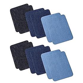Chiwanji 12 Nhiều Màu May Vá Quần Áo Khoác Hình Chữ Nhật Cotton DIY Dán Cường Lực