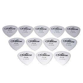 Pick Guitar Thép Không Gỉ Alice AP-12S (12 Cái)