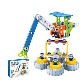 Đồ chơi giáo dục Stem - lắp ghép phát triển kỹ năng Build&Play mô hình cần cẩu xây dựng 92 chi tiết Toyshouse J-7701