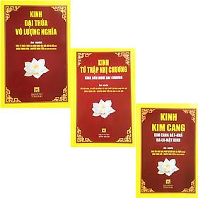 Combo 3 Cuốn Kinh Tụng Âm Nghĩa : Kinh Kim Cang + Kinh Tứ Thập Nhị Chương + Kinh Đại Thừa Vô Lượng Nghĩa