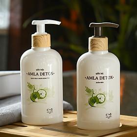 Bộ Dầu Gội - Xả AMLA DETOX LACO  Giải pháp cho tóc rụng và nhiều gàu