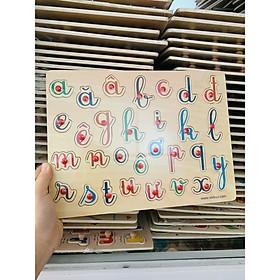 Bảng chữ tiếng Việt Mk- đồ chơi gỗ cao cấp