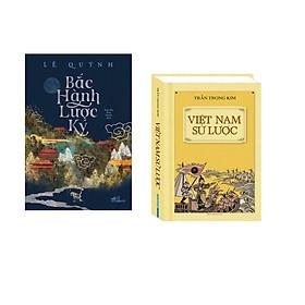 Combo 2 cuốn sách: Bắc hành lược ký  + Việt Nam sử lược  (Bìa cứng)