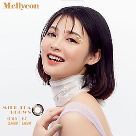 Kính áp tròng màu 1 tháng Mellycon - Milk Tea Brown