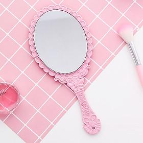 Gương trang điểm có tay cầm tiện dụng (màu ngẫu nhên)