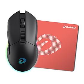 Chuột Không Dây Gaming Dareu EM901 RGB Black Tặng bàn di Dareu- Hàng Chính Hãng
